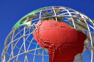 Globe of South America