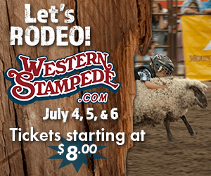 Western Stampede Lets Rodeo July 4,5, and 6